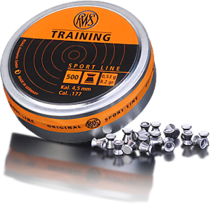 RWS Diabolo RWS Training 0,53 g Kal. 4,5 mm / Cal. .177 (500 Stück in Dose)